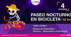 Asiste al tradicional #PaseoNocturno en Bicicleta en conmemoración del #DíaDeMuertos.