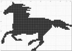 Here is my horse pattern. It uses only one color but feel free to use any color you want. It is a simple pattern but still fun to make as a gift. The pattern uses DMC floss for the color, which is 310 for black. If you have trouble finding a frame I. Cross Stitch Horse, Cross Stitch Animals, Cross Stitching, Cross Stitch Embroidery, Cross Stitch Patterns, Cross Stitch Silhouette, Horse Pattern, Cross Stitch Needles, Tapestry Crochet