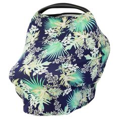 PALM LEAF - Multi Use Baby Car Seat Canopy and Nursing Cover