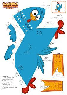 paper toy galinha pintadinha