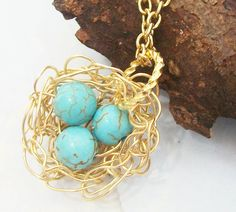 Handcrafted Little Rustic Nest  Genuine by Kikiburrabeads on Etsy, $18.50