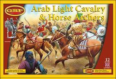 Buy Gripping Beast: Arab Light Cavalry at Mighty Ape NZ. Gripping Beast: Plastic Arab Light Cavalry Inside you will find parts to assemble 12 finely-detailed Light Cavalry, fighting with either bow or spear. Gripping Beast, Middle Eastern Clothing, Turkish Army, Dark Ages, Historical Pictures, Military Art, Archer, Middle Ages, Horses