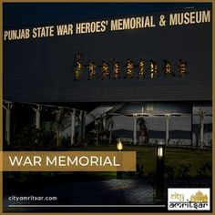 Punjab State War Heroes Memorial and Museum exhibits the fabulous Bravehearts of Punjab. The museum keeps alive the memory of the brave soldiers of Punjab, displayed throughout with a spirit of nationalism. It is located on a plot of about three hectares adjoining Amritsar – Attari Road. It is on the outskirts of Amritsar City, 18 km away from the Indo-Pak International border.  #warmemorialamritsar #amritsartouristattractions #placestovisitinamritsar Grand Trunk Road, Guru Hargobind, Kargil War, Patton Tank, Guru Gobind Singh, Memorial Museum, India People, Amritsar, Braveheart