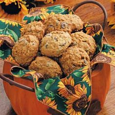 These are some of the best fall cookies I've ever had!  Everytime I make them they are a huge hit!  It makes 10 dozen, so you can always halve the recipe.