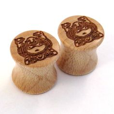 Buddha Maple Wooden Plugs  00g 10mm 7/16 11mm 1/2 by EarEmporium, $30.00