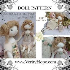 vintage romantic shabby chic doll pattern by verity hope http://verityhope.blogspot.co.uk