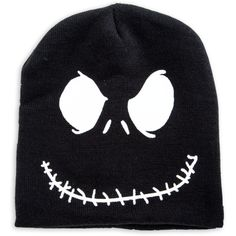 nightmare before christmas beanie (6.55 CAD) ❤ liked on Polyvore featuring accessories, hats, christmas hats, beanie hats, christmas beanie and christmas beanie hat