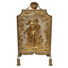 very fine bronze dore fire screen   From a unique collection of antique and modern fireplace tools and chimney pots at http://www.1stdibs.com/building-garden/fireplace-tools-chimney-pots/