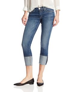 Hudson Jeans Womens Muse Crop Skinny With Five InchCuff 5Pocket Jean Hackney 28 * Click on the image for additional details.(This is an Amazon affiliate link and I receive a commission for the sales)