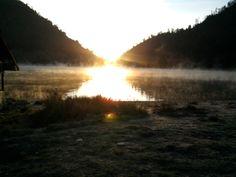 Sunrise, morning, foggy, warm...