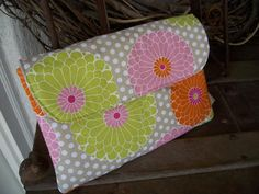 Cash envelope system in sherbert and dots.