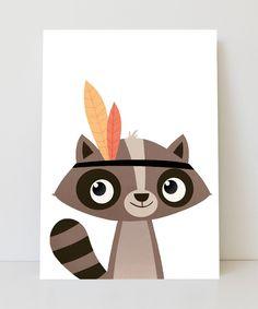Lámina mapache