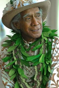 """The irrepressible Uncle George Na'ope has been named a """"living treasure"""" by Hawai'i officials and the Smithsonian. He was one of the founders of the annual Merrie Monarch Hula Festival in Hawaii."""
