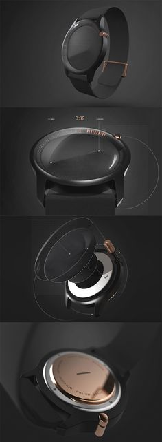 'Divided/By watch' is inspired by the natural phenomenon of light and shadow, it applies this relationship to form the simplest way of displaying time, no dials, no digital interface, instead, the design represents time through elevated contours... READ MORE at Yanko Design !