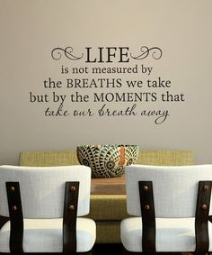 Take a look at this Black 'Life is Not Measured' Wall Decal by Wallquotes.com by Belvedere Designs on #zulily today!
