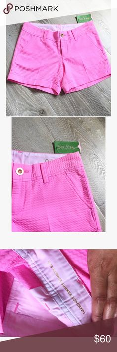 """LILLY PULITZER• """"the Callahan"""" shorts """"It's always Summer somewhere"""" • NWT • size 0 Lilly Pulitzer Shorts"""