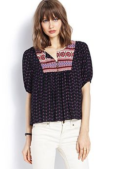 Boho Peasant Top | FOREVER21 - 2000071014