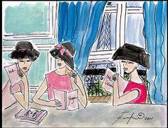 Parisian women by Fifi Flowers