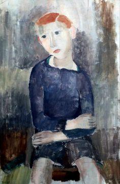 Hippolyte Daeye (Belgium 1873-1952)Le chandail bleu - The Blue Sweater (1929)