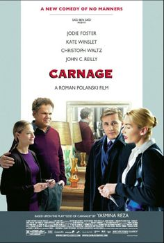 Carnage is about two couples meeting over their sons' quarrel. Like in all conversation films, it starts there and goes several places. However despite the great star cast and fairly realistic plot, this Roman Polanski film doesnt flow smoothly. It had trouble holding my attention [6.5/10]