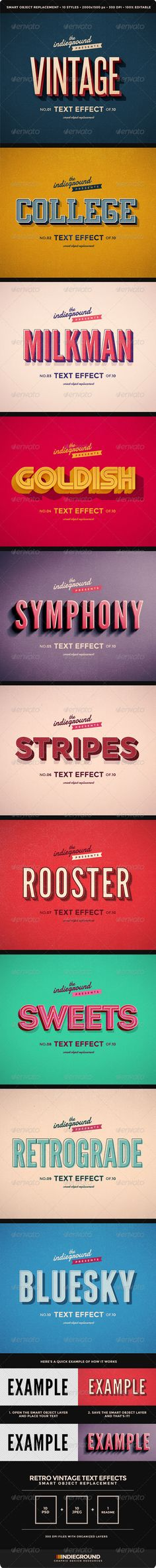 Retro Vintage Text Effects :  Check out this great #graphicriver item 'Retro Vintage Text Effects' http://graphicriver.net/item/retro-vintage-text-effects/8095568?ref=25EGY