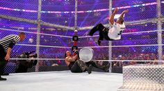 Shane McMahon and The Undertaker clash inside Hell in a Cell with everything on the line. Shane Mcmahon, Vince Mcmahon, Wwe Wrestlemania 32, Wrestling Memes, Undertaker Wwe, Catch, Wwe Pay Per View, Wwe News, The Cell