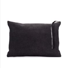 Mark Double Sided Black Leather Clutch | UNDER MY ROOF