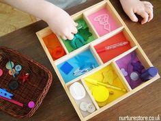 boite à couleur montessori Montessori Toddler, Montessori Activities, Sorting Activities, Educational Activities, Toddler Activities, Preschool Activities, Montessori Color, Teaching Kids Colors, Preschool Colors