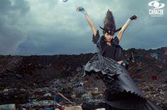 Lina Cardona . Colombia's Next Top Model, Cycle 2 Episode 7 > Trash Couture by Zuan Carreño