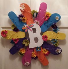 Flip Flop Wreath for Family!