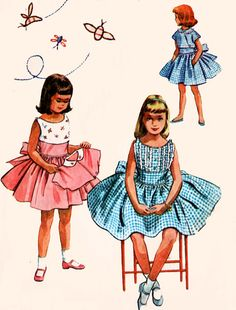1950s McCalls 2054 Girls Sleevless Full Skirted Dress with Short Jacket 50s Vintage Sewing Pattern Size 4