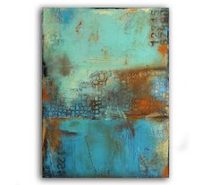 Deja Blue by Erin Ashley http://www.etsy.com/shop/erinashleyart http://www.erinashleyart.com/Site/Welcome.html #art #mixed_media
