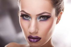Purple Lips by Andreea A on Preen.Me.