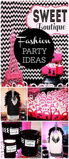 This fashion party is so sweet! You won't believe the candy dresses! See more party planning ideas at CatchMyParty.com!