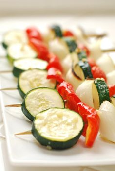 Happy New Year, Setting 2011 Goals & Mini Roasted Veggie Skewers w/ Raw Garlicky Basil Dip | The Alkaline Sisters
