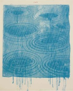 David Hockney, Rain. David Hockney (British, 1937) is a painter first associated with the Pop Art movement, and later renowned for his intimate portraits and naturalistic scenes of both the everyday and the artificial of California life. Hockney was born in Bradford, England.