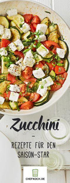 Zucchini braten, überbacken, pürieren: Rezepte satt