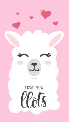 Love you llots llama quote with doodles. llama motivational and inspirational vector poster. Wallpapers Tumblr, Cute Wallpapers, Wallpaper Backgrounds, Iphone Wallpaper, Unicorns Wallpaper, Alpacas, Llama Drawing, Llama Face, Wallpaper Fofos