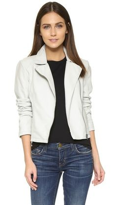 cupcakes and cashmere Sid Vegan Leather Moto Jacket in black on Shopbop