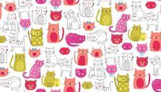 "Tissus animaux, Tissu Patchwork MakowerUK "" Kitty Collection"" est une création orginale de Atelierdelasouris sur DaWanda"