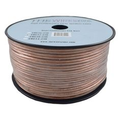 Car Home Audio Speaker Wire Transparent Clear Cable 14AWG 14//2 Gauge 25 feet
