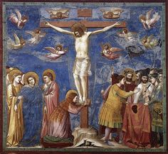 Crucifixion, Giotto, 1303-1306,  fresque 200 x 185, église de l'Aréna à Padoue