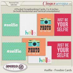 Quality DigiScrap Freebies: Selfie journal cards freebie from Aprilisa Designs