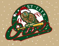 Forest City Owls Christmas logo