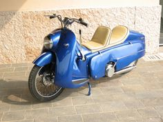 1953 Carniti 187cc Horizontal Three-Cylinder Air-Cooled Two-Stroke Twin-shaft Rubber Wheel Rim Roller Final Drive to Rear Wheel (This Machine did not reach Production)