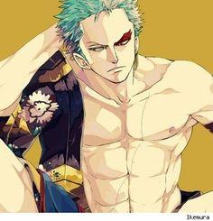 Roronoa Zoro, paint, eye, cool; One Piece
