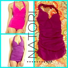 NATORI Push-Up Plunge Maillot Onepiece See Pics For Detail Description!Last pic ofsizing chart from NATORI website for referenceOPEN TO OFFERS! Natori Swim