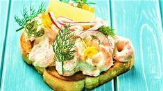 DAGENS RETT: Toast Skagen - Aperitif.no Lassi, Frisk, Skagen, Garam Masala, Wok, Avocado Toast, Frozen, Breakfast, Ethnic Recipes