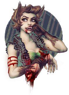 Miss Werewolf by ~B1nd1 on deviantART