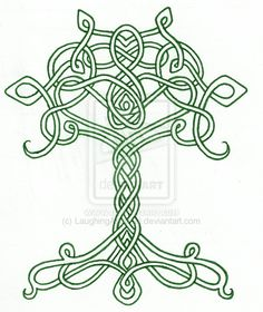 Celtic Tree, Man I LOVE Celtic art (can you tell??) :) This Tree of Life is so simple yet soooo complicated...Perfection!!